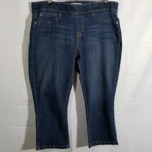 Signature by Levi Strauss Cropped Jeggings Size 16